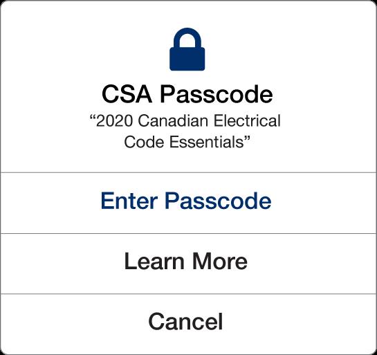 csa passcode